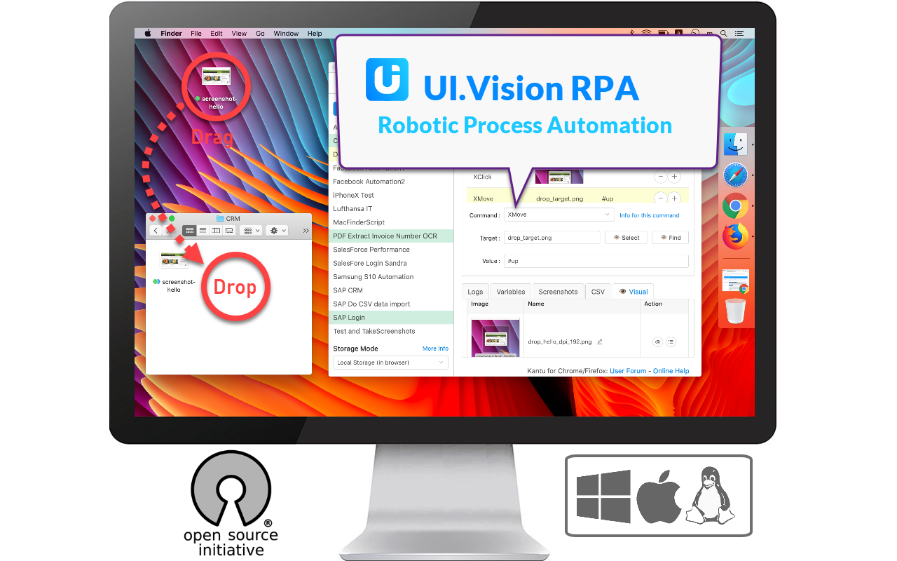 Desktop UI Automation, also known as Robotic Process Automation (RPA)