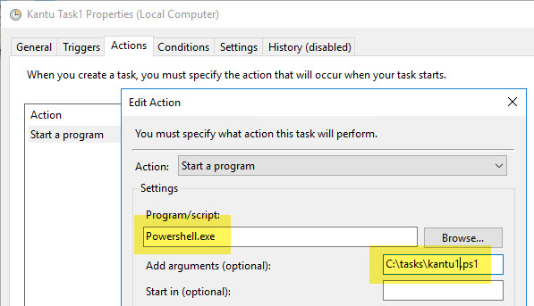 Windows Task Scheduler with PowerShell