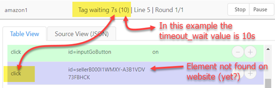 Implicit waiting with timeout_wait in action