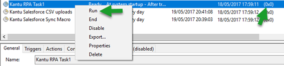 Windows Task Scheduler: Check return value
