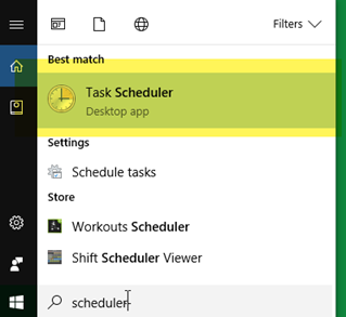 Windows Task Scheduler: